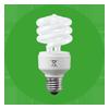 Lampe fluo-compacte torsadée