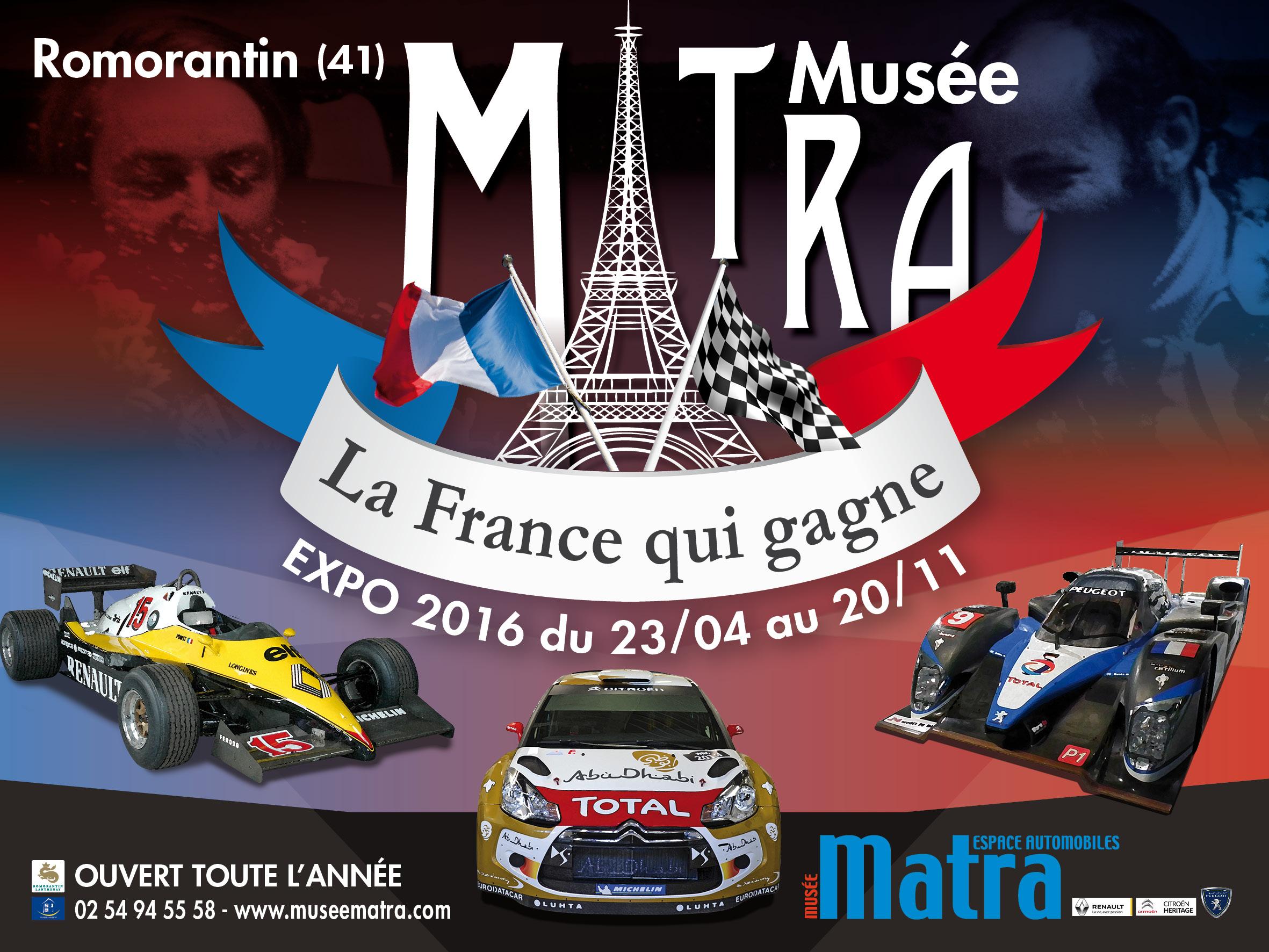 "Exposition : ""La France qui gagne"" @ Musée Matra | Romorantin-Lanthenay | Centre | France"