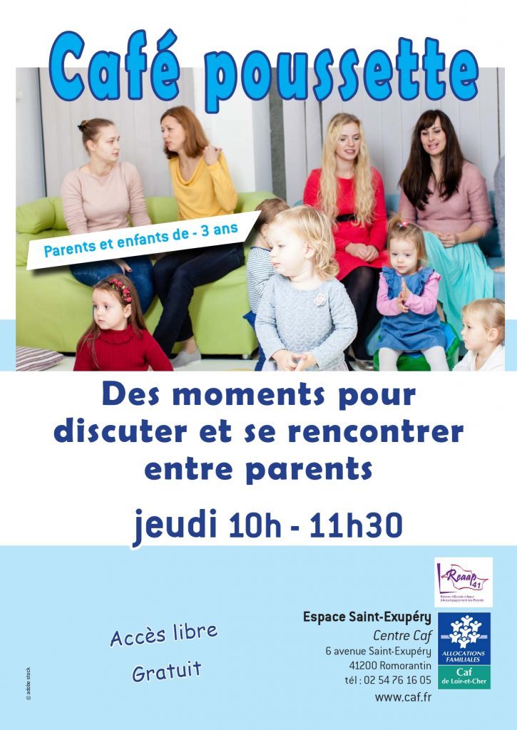 Café poussette @ Espace St Exupéry, centre CAF | Romorantin-Lanthenay | Centre-Val de Loire | France