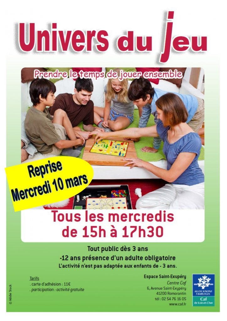 Univers du jeu @ Espace St Exupéry- centre CAF | Romorantin-Lanthenay | Centre-Val de Loire | France