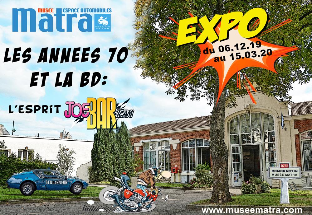 Exposition - Les années 70 et la BD : L'esprit Joe Bar Team @ Espace Automobiles Matra