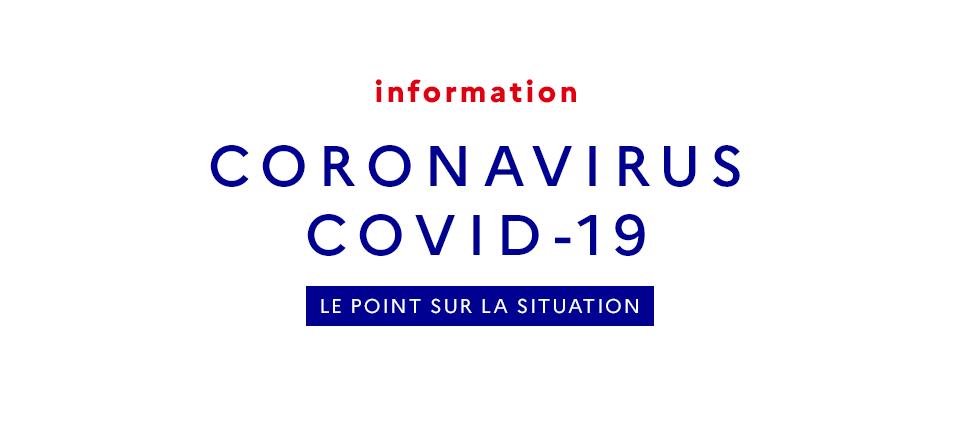 CORONAVIRUS COVID‐19 (MAJ 25/03 – 18h)